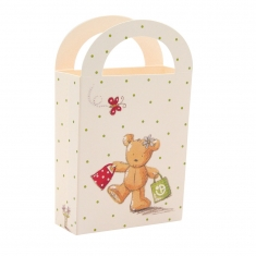 Cute stand-up paper bag with teddy print