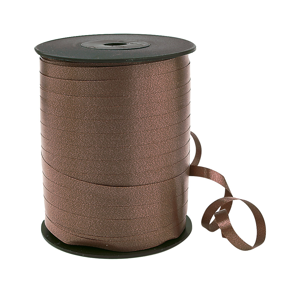 Dark brown gift curling ribbon