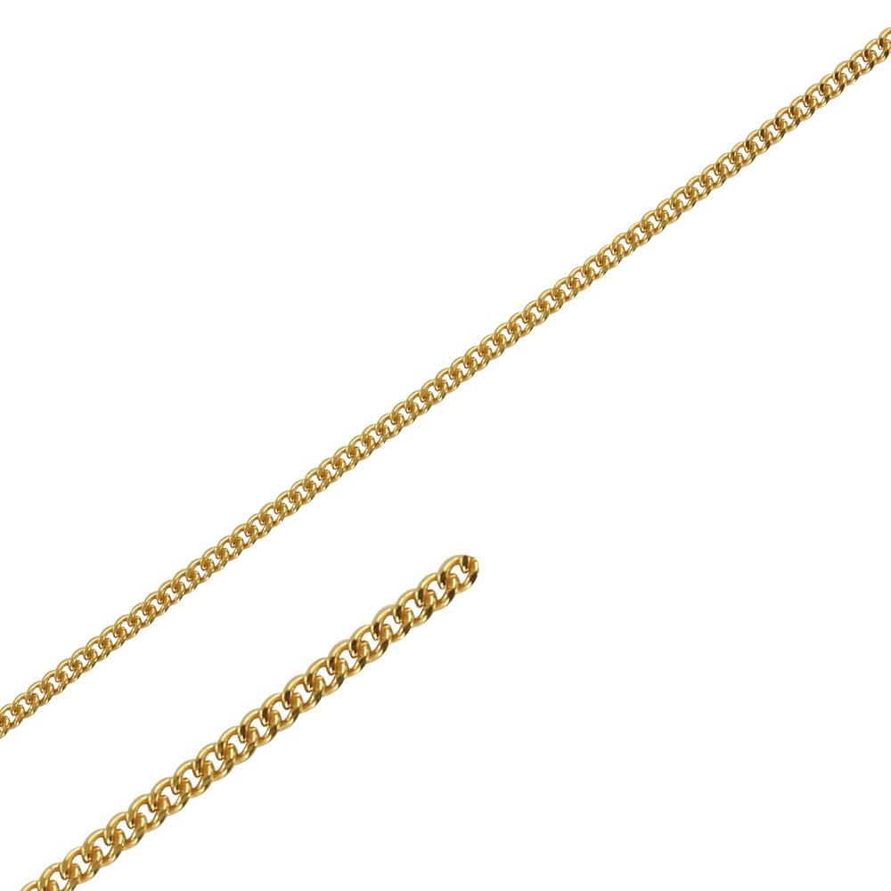 Diamond cut curb chain sold by the metre