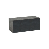 Black painted wooden display riser 16.5x7x7cm