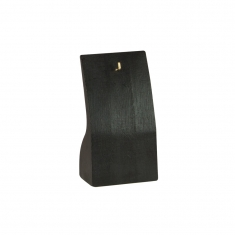 Pendant display stand with hook in black painted wood