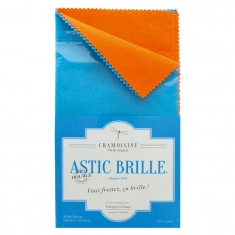 Double Astic Brille polishing cloth