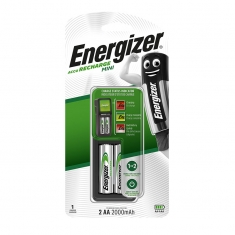 Energizer mini battery charger, supplied with 2 pre-charged LR6 batteries