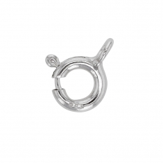 18 ct white gold bolt ring clasp - 6mm