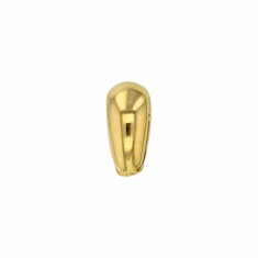 9ct gold bail, 5.5 x 6.2mm - oval rounded form