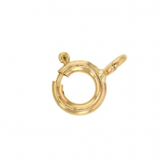 9ct gold bolt ring - 6mm