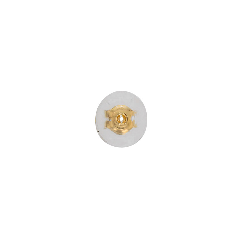 18ct gold ear backs with silicone surround 6.3mm