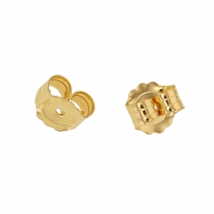 18ct gold ear scrolls for posts 0.64-0.76mm, 4.5mm