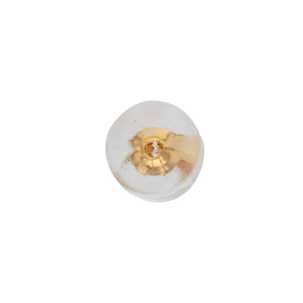 9ct gold ear scrolls with silicone surround 4.8mm diametre