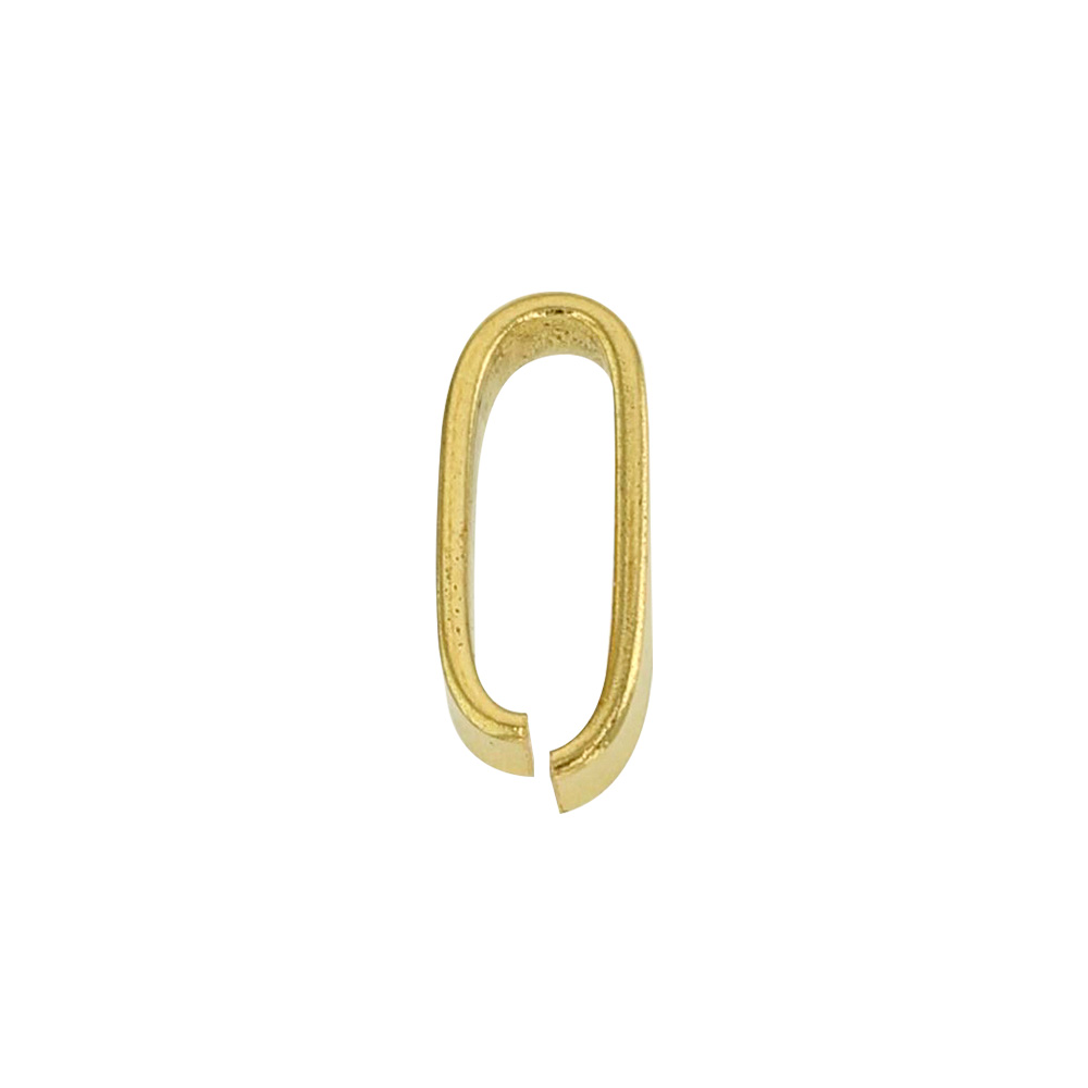 18ct gold flat wire bail, 7.5mm
