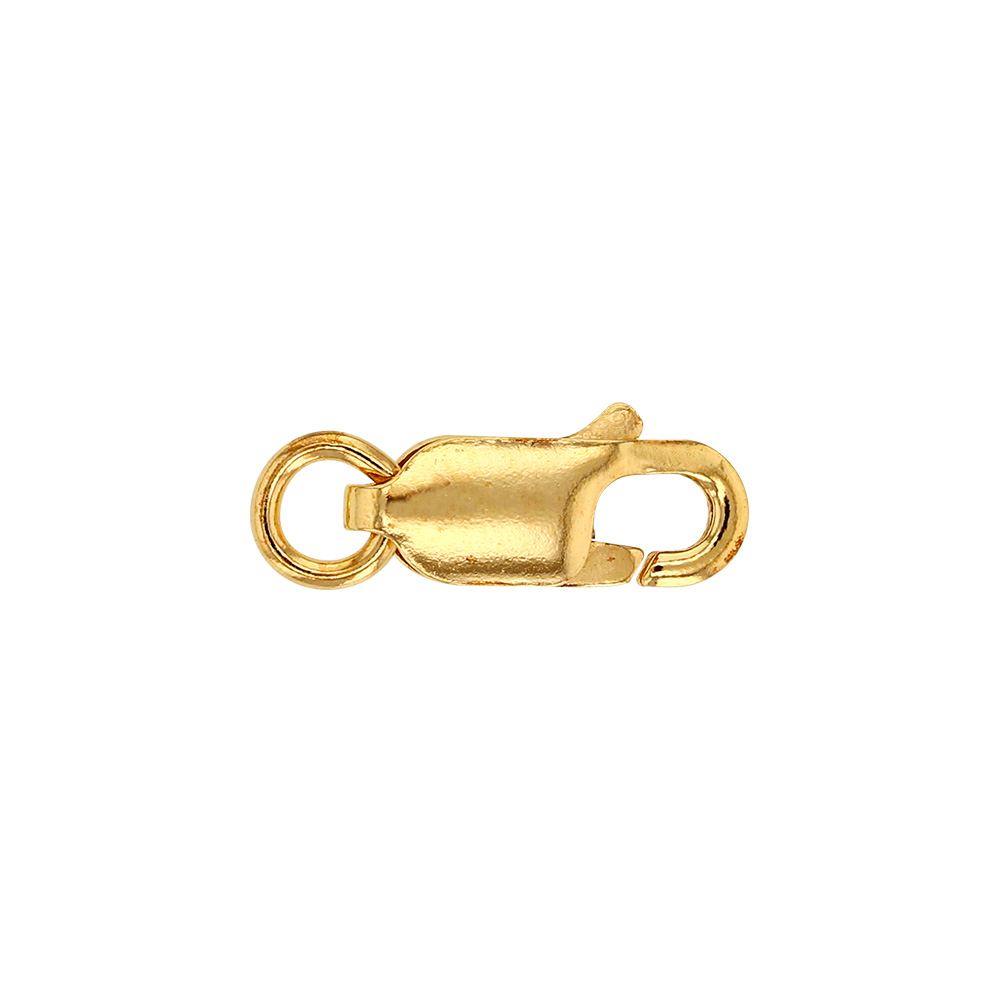 18ct gold oval hallmarked lobster catch - 11mm