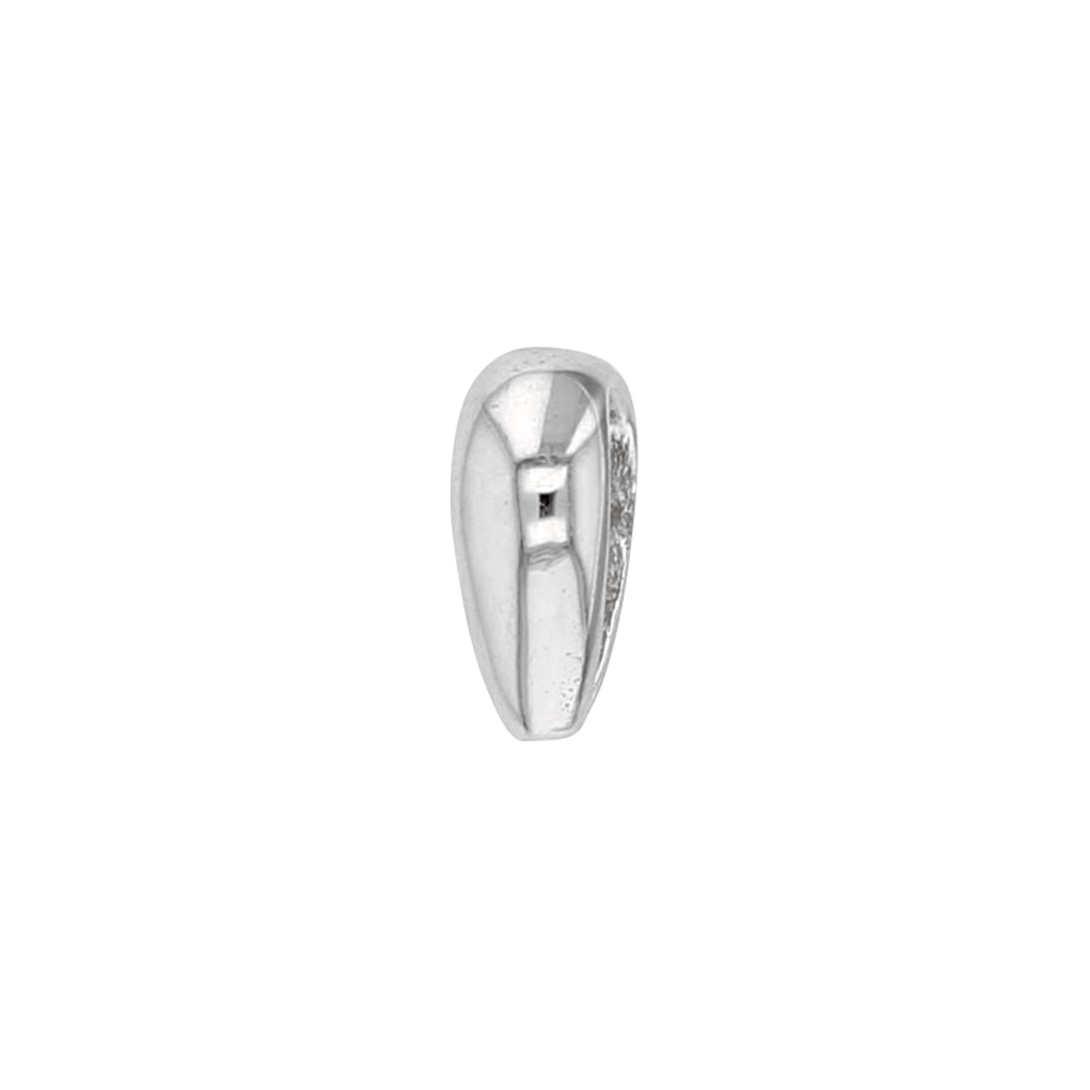 18ct white gold bail, oval rounded form 6.1x7mm