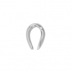 9ct white gold bail, 6.1 x 7 mm - oval rounded form