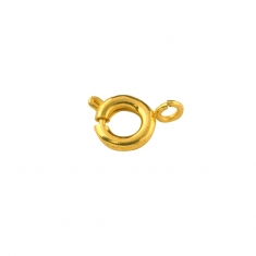 Gold-coloured metal bolt rings