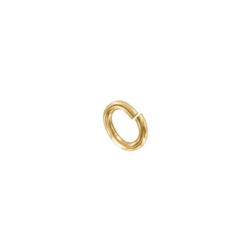 Gold plated oval jump rings