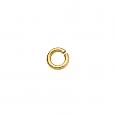 Gold plated round jump ring