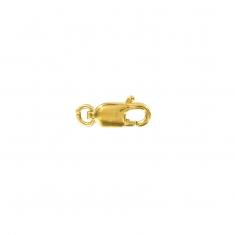 Gold plated stamped lobster claw trigger catch