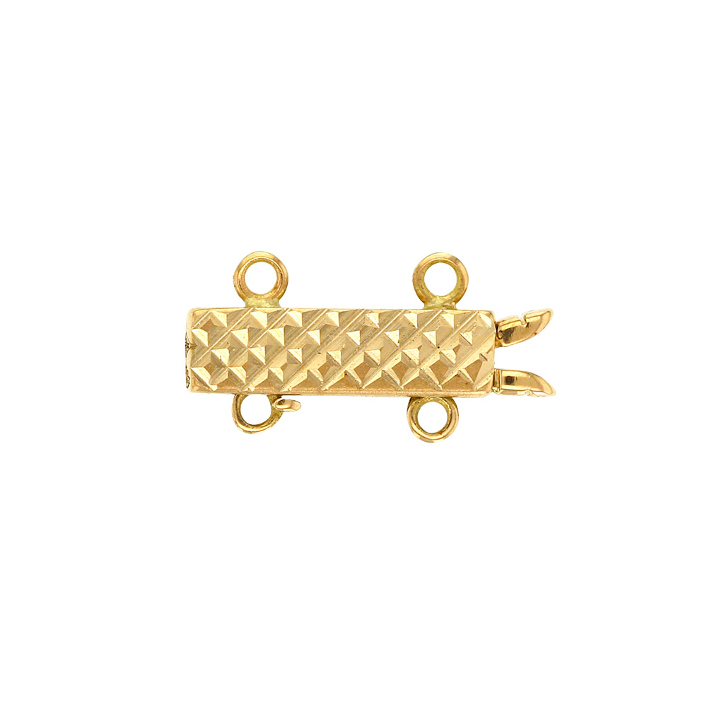 Multi strand 18ct gold clasp for pearl neckace, 15mm long