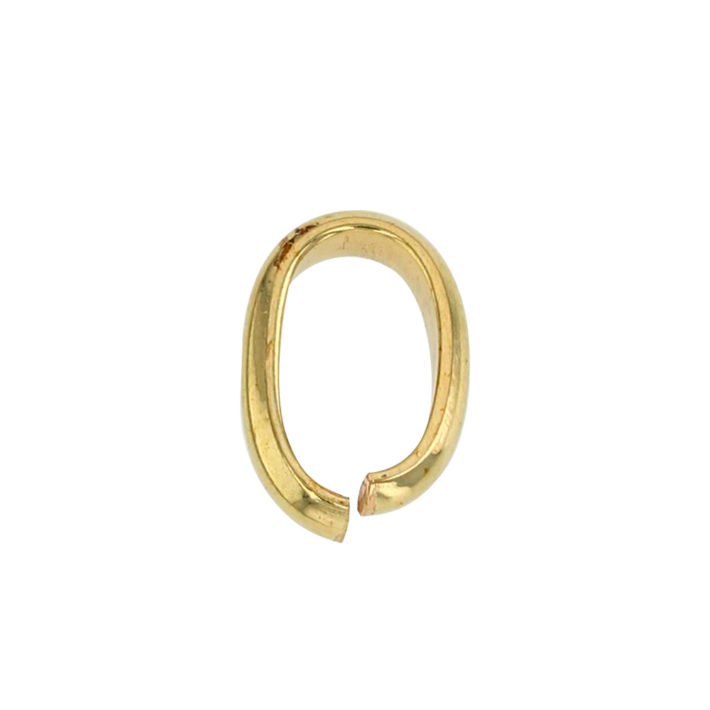 Narrow 18ct gold flat innerside bail, 7mm
