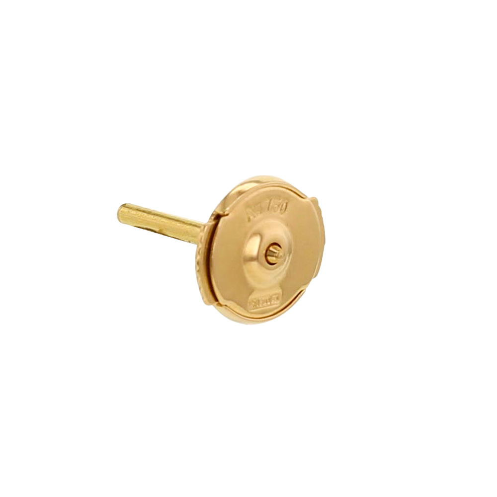 Pair of large 18ct gold S'TOP earring fittings - 7mm