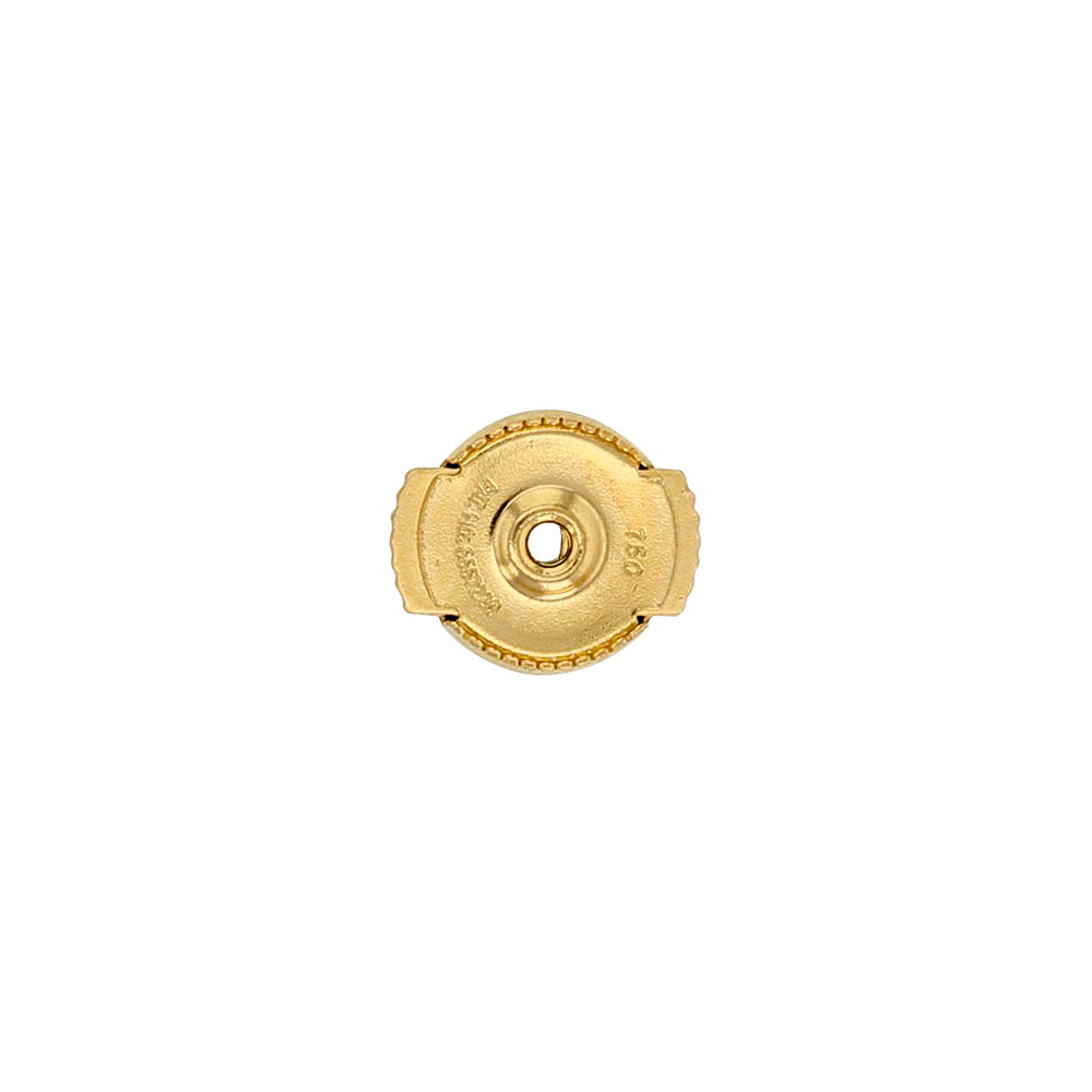 Pair of small 18ct gold Guardian without post - 6mm