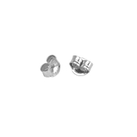 Rhodium plated sterling silver ear scrolls