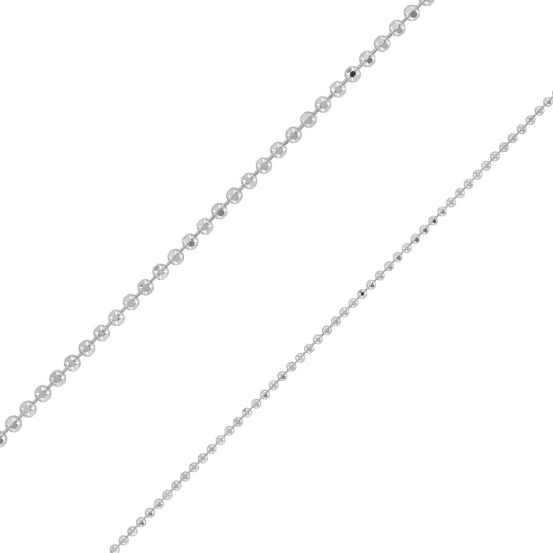 Sterling silver ball chain sold by the metre