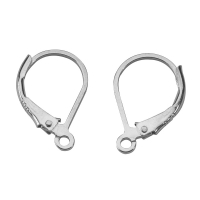 Sterling silver continental lever back ear hooks