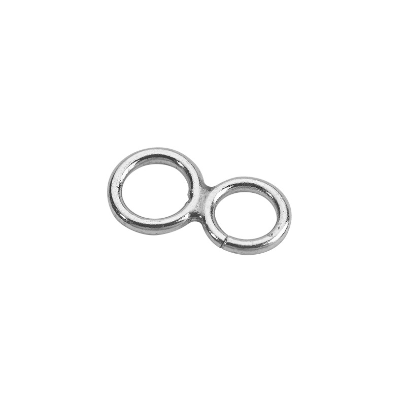 Sterling silver double jump rings (figure of eight)