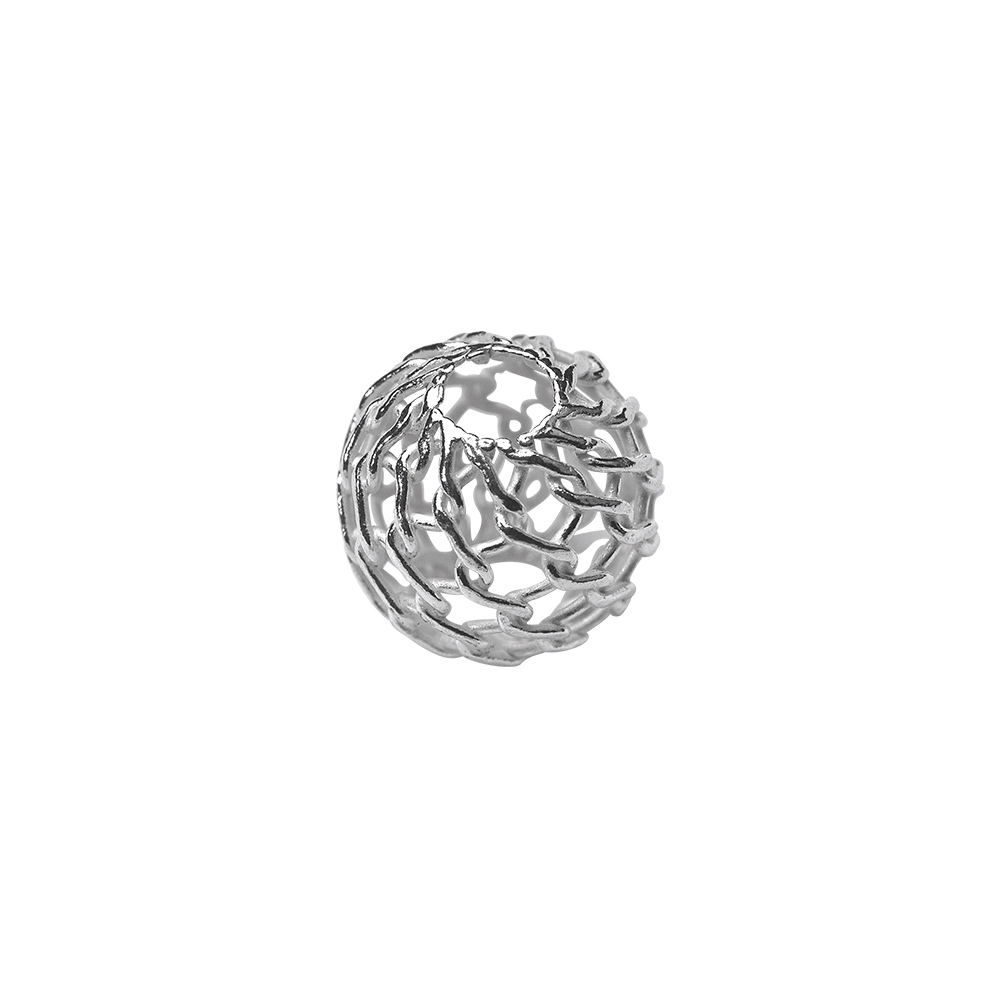 Sterling silver filigree spacer bead