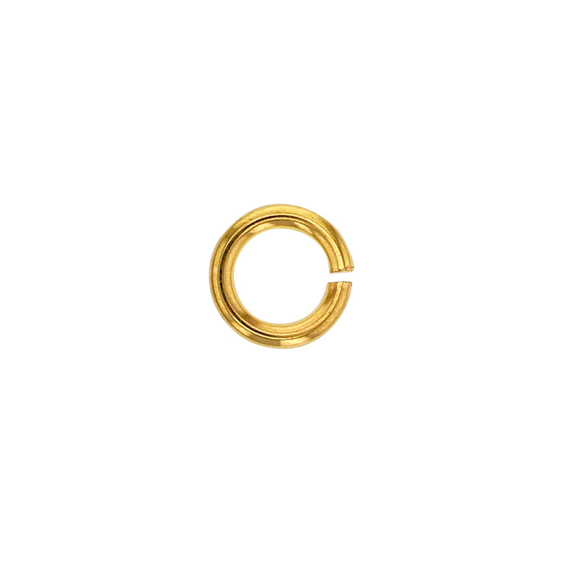 Yellow 4.5mm 18ct gold jump ring, wire diametre 1.0mm