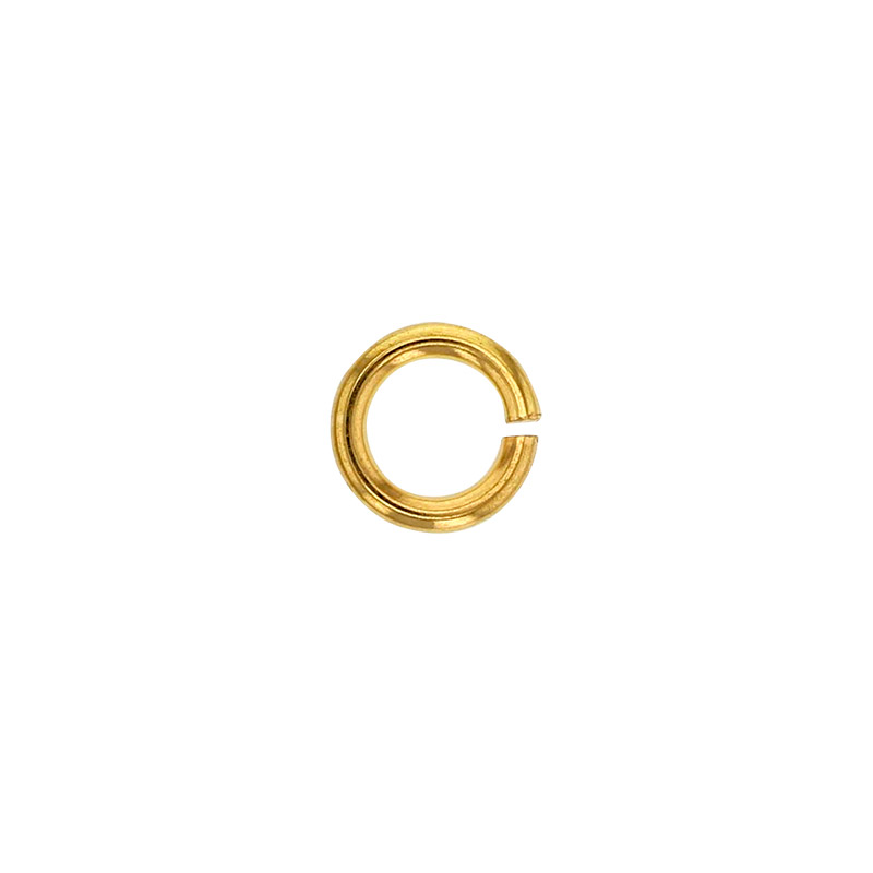 Yellow 4mm 18ct gold jump ring, wire diametre 0.9mm