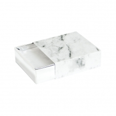 \\\'White marble\\\' card matchbox style universal trinket box