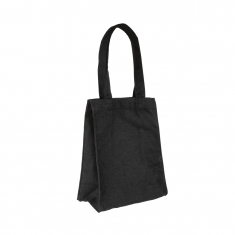 Black 100% cotton tote bag, 20x26x10.5 cm - Handle length: 41 cm