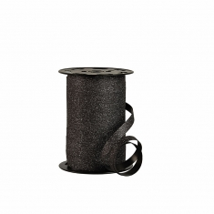 Black glittery gift curling ribbon