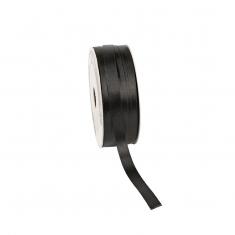 Black satin-finish ribbon 12mm x 100m