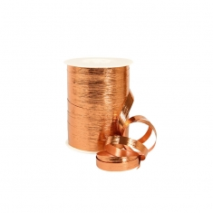 Bronze coloured mirror finish striated gift curling ribbon