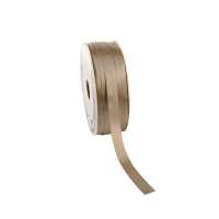 Dove grey-coloured satin-finish ribbon 12mm x 100m