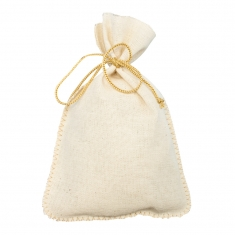Ecru cotton pouches