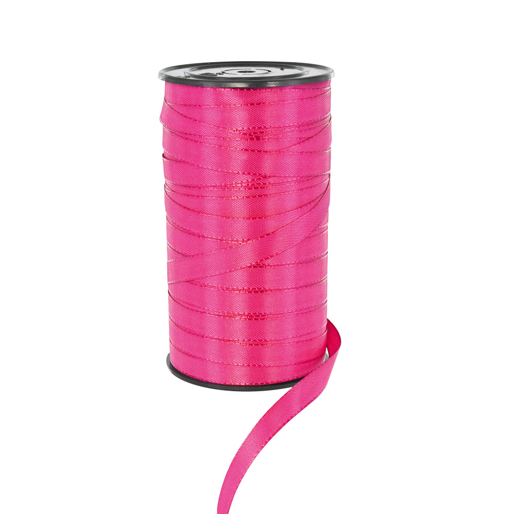 Fuchsia coloured taffeta style gift ribbon