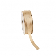 Gold-coloured satin-finish ribbon 12mm x 100m