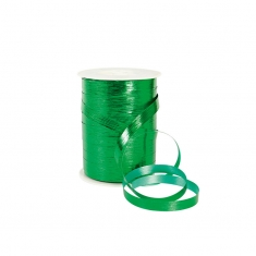 Green mirror finish striated curling ribbon