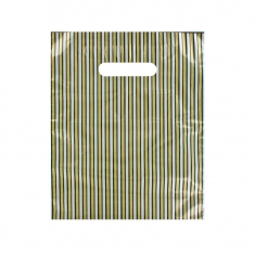 Heavy duty striped polyethylene bags - 50 microns