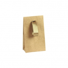 Kraft paper stand-up bag with ribbon fastening