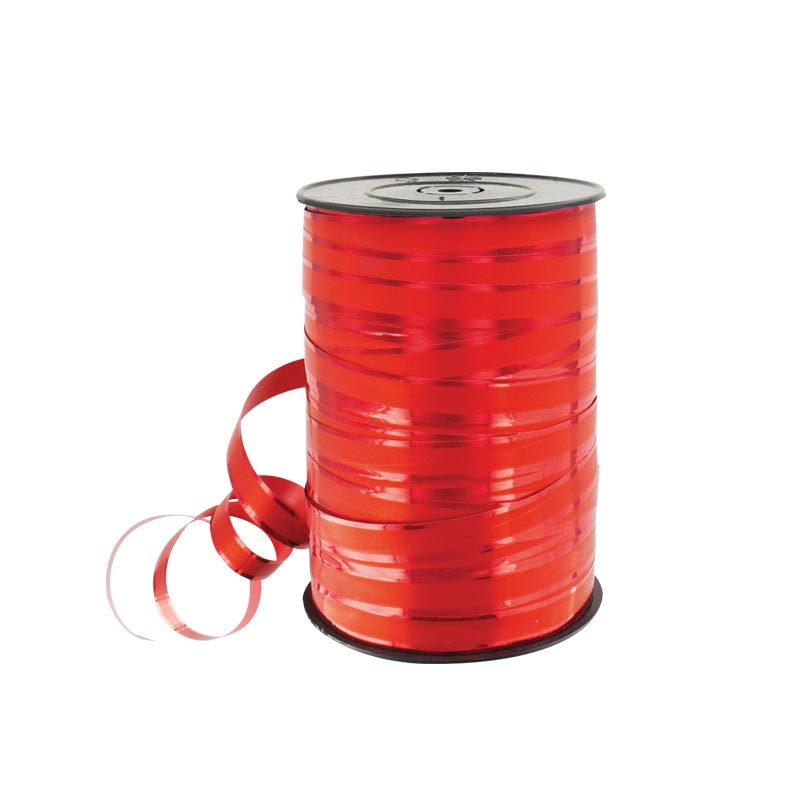 Matt and glossy red gift curling ribbon