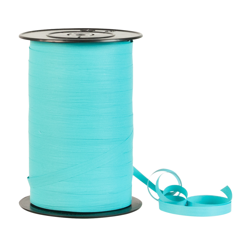Matt turquoise gift ribbon - crepe paper feel