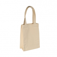 Natural coloured 100% cotton tote bag, 20x26x10.5 cm - Handle length : 41 cm