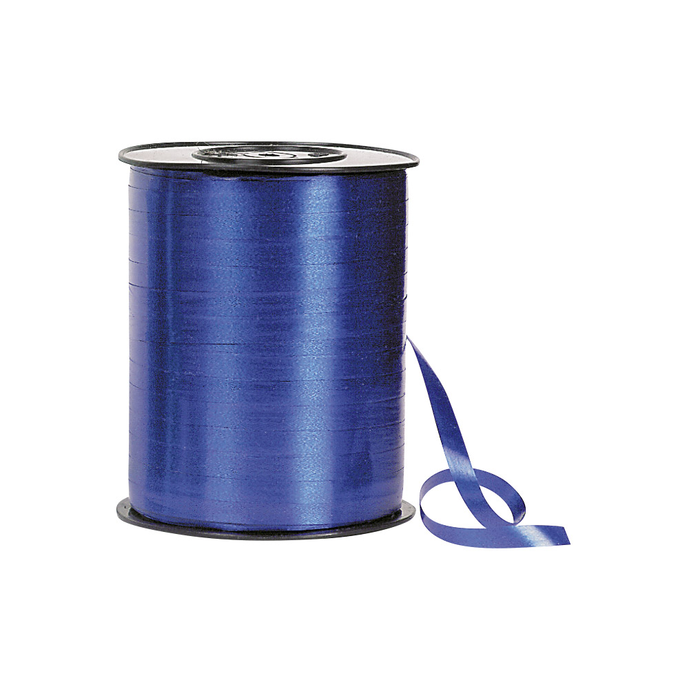 Navy blue gift curling ribbon