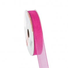 Organza fucshia ribbon 16mm x 25m