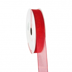 Organza red ribbon 16mm x 25m